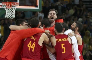 Basketball - Men's Bronze Medal Game Australia v Spain