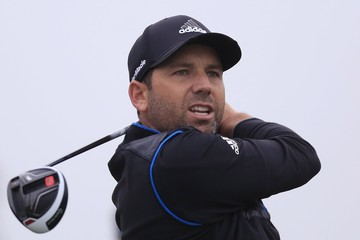 Sergio Garcia of Spain tees off on the seventh hole during the second round of the BMW Masters 2015 golf tournament at Lake Malaren Golf Club in Shanghai