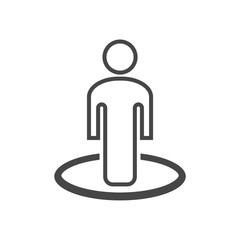 Street View icon vector, person standing