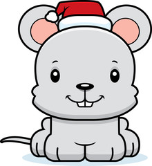 Cartoon Smiling Xmas Mouse
