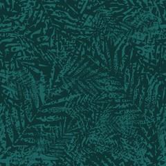 Fototapeta Tropical palm leaves seamless pattern. Vector illustration.  obraz