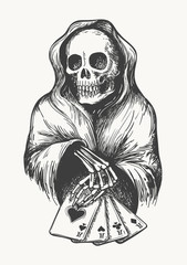 Death with Playing Cards