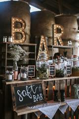 bar lights wedding decoration