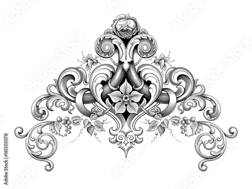 Leaf frame tattoo