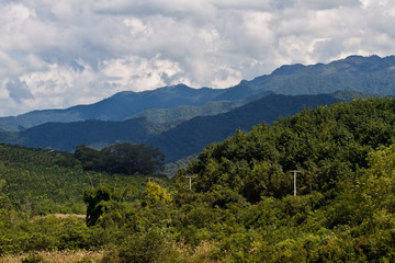 Nature landscape of Laos.Scenic landscape.beautiful place.wild nature.