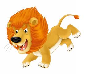 Cartoon animal - lion - caricature - illustration for children