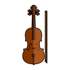 Isolated violin icon