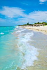 Fototapete - The beautiful Varadero beach in Cuba on a sunny summer day
