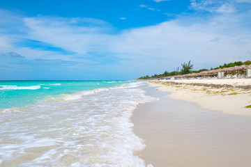 Wall Mural - The beautiful Varadero beach in Cuba on a sunny summer day