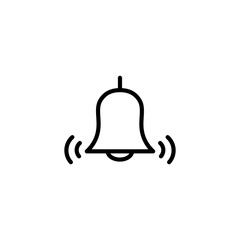thin line bell icon on white background