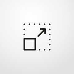 resize square and arrow icon illustration isolated vector sign symbol