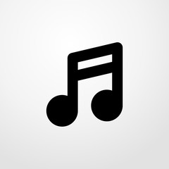 quaver icon illustration isolated vector sign symbol