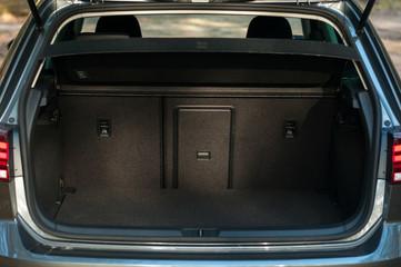 Empty car trunk.