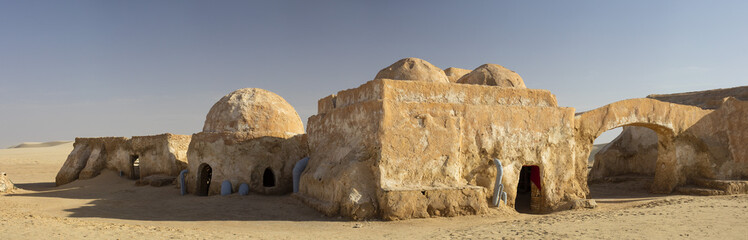 berber houses in Sahara desert in Tunisia