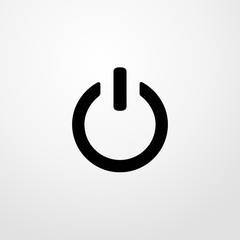 power on button icon illustration isolated vector sign symbol