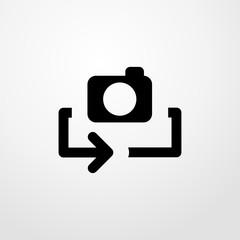 flip camera icon illustration isolated vector sign symbol