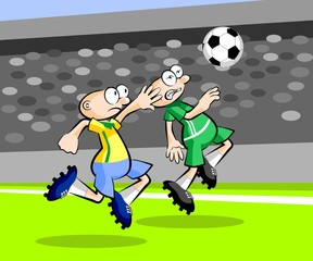 Cartoons Soccer players