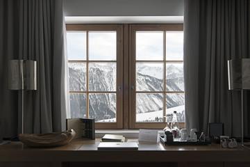 finestra sulla neve