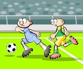 Cartoons Soccer players