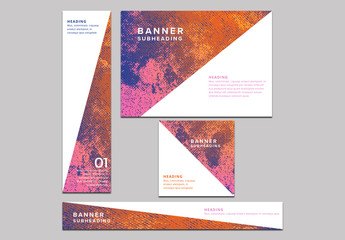 5 Abstract Texture Web Banner Layouts