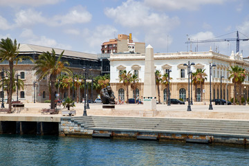 Beautiful views of the city of Cartagena city, region of Murcia, Spain