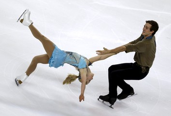Seguin and Bilodeau of Canada compete during the Pairs Short Program at the ISU Bompard Trophy Figure Skating competition in Bordeaux