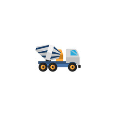 Flat Icon Concrete Mixer Element. Vector Illustration Of Flat Icon Cement Blender Isolated On Clean Background. Can Be Used As Concrete, Cement And Mixer Symbols.