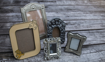 Vintage silver plate photo pictures frames