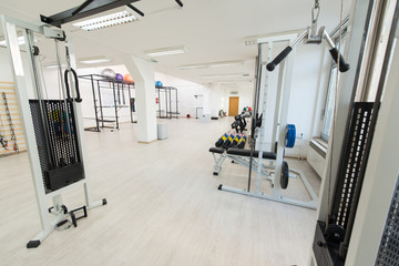 Large Modern Gym With Workout Equipment