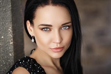 Beautiful girl portrait closeup