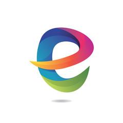 Letter E Abstract Logo Template Design