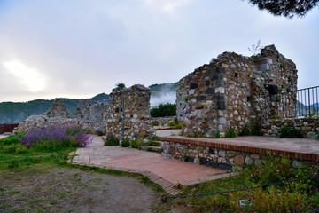 Castle of castelmola, sicily, italy