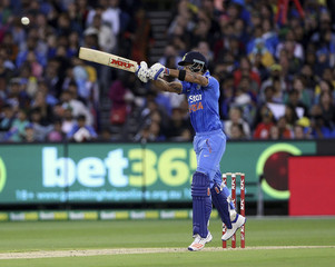 India's Virat Kohli batting against Australia during their T20 cricket match at the Melbourne Cricket Ground