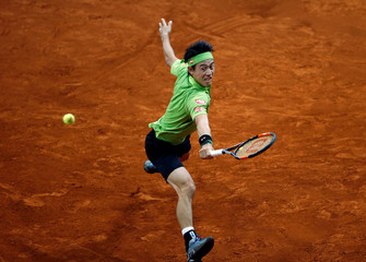 Tennis - Madrid Open - Nick Kyrgios of Australia v Kei Nishikori of Japan