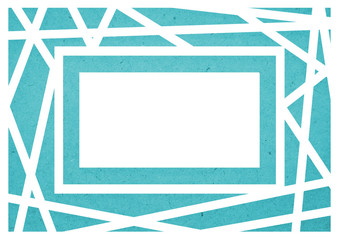 blue geometric background/wallpaper illustration for  A4 paper size.
