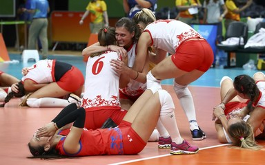 Volleyball - Women's Semifinals Serbia v USA