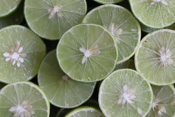 Green Lime sliced