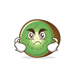 Angry kiwi fruit character cartoon