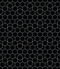 geometric hexagon seamless vector grid pattern background