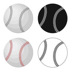 Ball for baseball. Baseball single icon in cartoon style vector symbol stock illustration web.