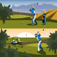 The golfer will hit the ball towards the hole.