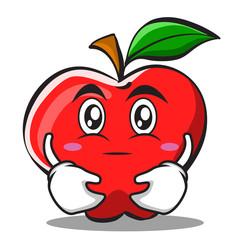 Hugging apple cartoon character design