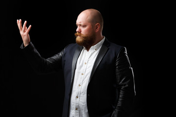 Opera singer with ginger beard