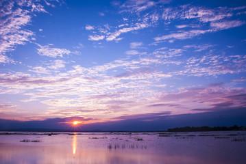 beautiful sunset and beautiful cloud