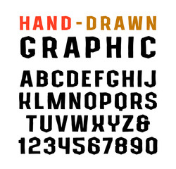 Sanserif font in the style of handmade graphics