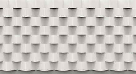 3d illustration luxury white geometric wall background