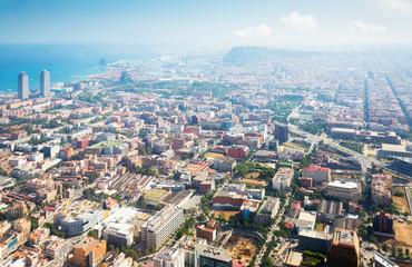 Residential area of Barcelona in Spain