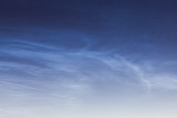 Noctilucent cloud (NLC, night clouds), cloud-like phenomena in mesosphere