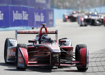 Jerome D'Ambrosio of Dragon Racing drives his car during the race of the Formula E Championship in Punta del Este