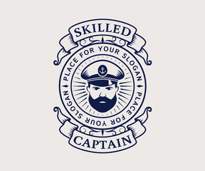 Captain logo. Vector.